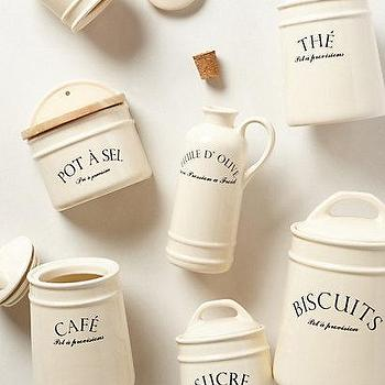 Decor/Accessories - Bistro Canisters I anthropologie.com - french style canisters, french style kitchen accessories, french kitchen canisters,
