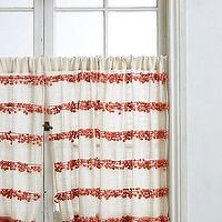 Window Treatments - Pom-Trim Curtain I anthropologie.com - pom pom trimmed cafe curtain, orange and ivory pom pom trimmed cafe curtain, orange and ivory cafe curtain,