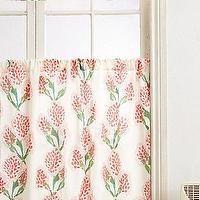 Window Treatments - Stem-To-Stem Curtain I anthropologie.com - floral cafe curtain, pink and green floral cafe curtain, pink and green botanical cafe curtain,