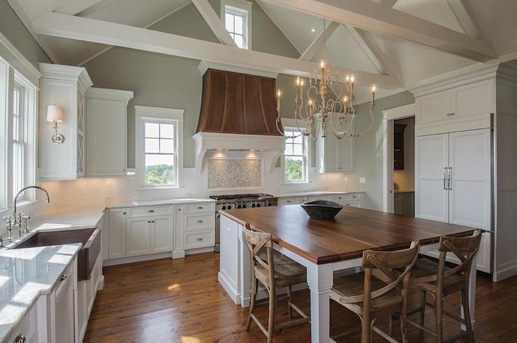 Dark Walnut Countertops Transitional Kitchen