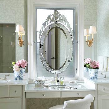 Mirrored Backsplash, Traditional, bathroom, Erotas Building Corporation