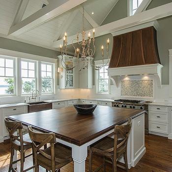 Walnut Countertop, Transitional, kitchen, Benjamin Moore Horizon Gray, JacksonBuilt Custom Homes