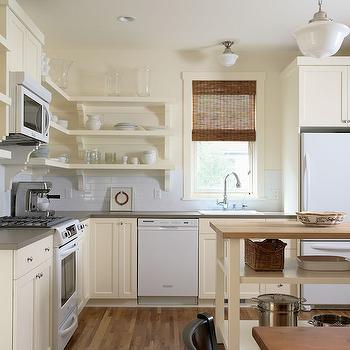 Cream Kitchen Cabinets, Transitional, kitchen, Benjamin Moore Ivory White, Erotas Building Corporation