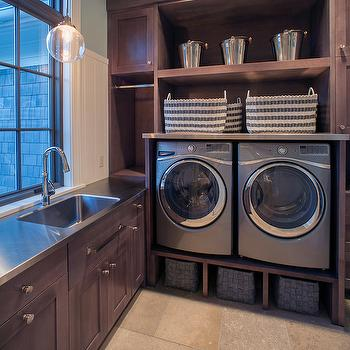 Raised Washer and Dryer, Contemporary, laundry room, Scott Christopher Homes