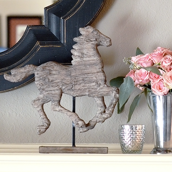 Decor/Accessories - Horse Statue I Feathered Home - horse statue, wooden horse statue, driftwood horse statue,