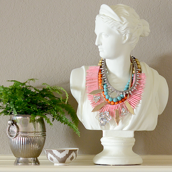 Decor/Accessories - Large Bust I Feathered Home - white bust, large bust, traditional bust,
