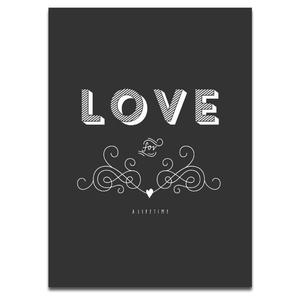 Art/Wall Decor - LIFETIME LOVE I SS PRINT SHOP - love for a lifetime art print, black and white love for a lifetime wall decor, black and white love for a lifetime art print,