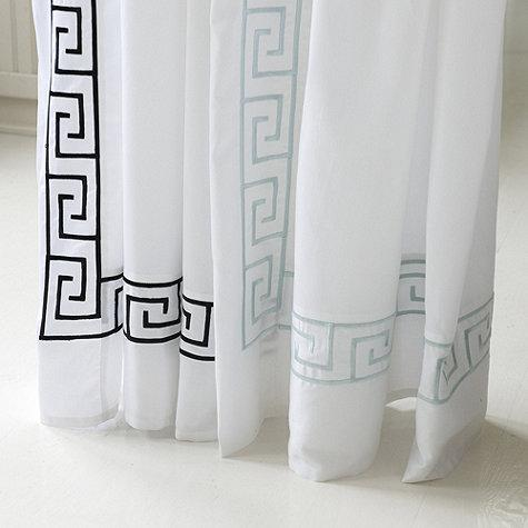 Bath - Greek Key Shower Curtain | Ballard Designs - greek key shower curtain, greek key bordered shower curtain, black and white greek key shower curtain, blue and white greek key shower curtain,