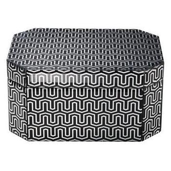 Decor/Accessories - Threshold Jewelry Box - Black Geometric Large I Target - black and white geometric jewelry box, black and white modern jewelry box, black and white geometric trinket box,