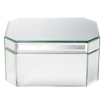 Decor/Accessories - Threshold Jewelry Box - Mirrored Large I Target - mirrored jewelry box, modern mirrored jewelry box, mirrored trinket box,