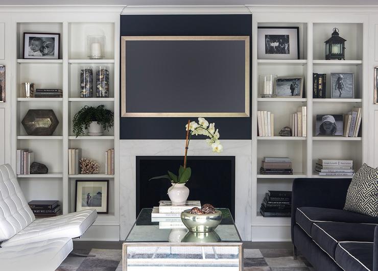 Navy Blue Sofa Contemporary Living Room Sage Design