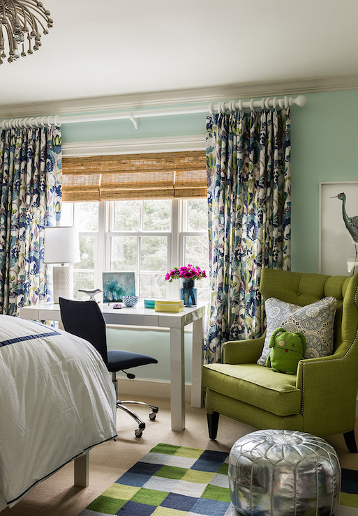 Modern Floral Curtains Contemporary Boy S Room Katie