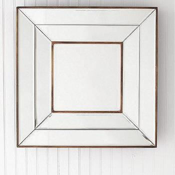 Mirrors - Olivia Square Mirrors I Garnet Hill - beveled glass mirror, square beveled glass mirror, gold beveled glass mirror,