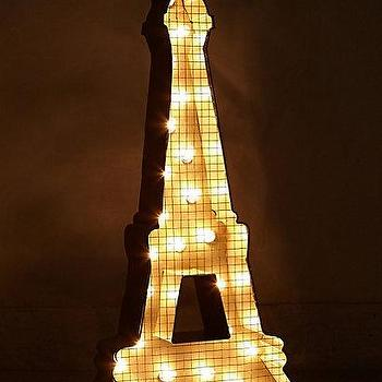 Lighting - Eiffel Tower Marquee Light I anthropologie.com - eiffel tower marquee light, eiffel tower wall light, eiffel tower metal wall light,