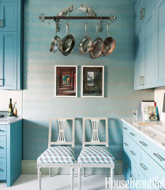 Benjamin Moore Blue Kitchen: Blue Kitchen Cabinets