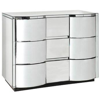 Storage Furniture - Bungalow 5 Cunard 3-Drawer Large Dresser I Zinc Door - mirrored dresser, modern mirrored dresser, curved mirrored dresser, mirrored 3 drawer dresser,