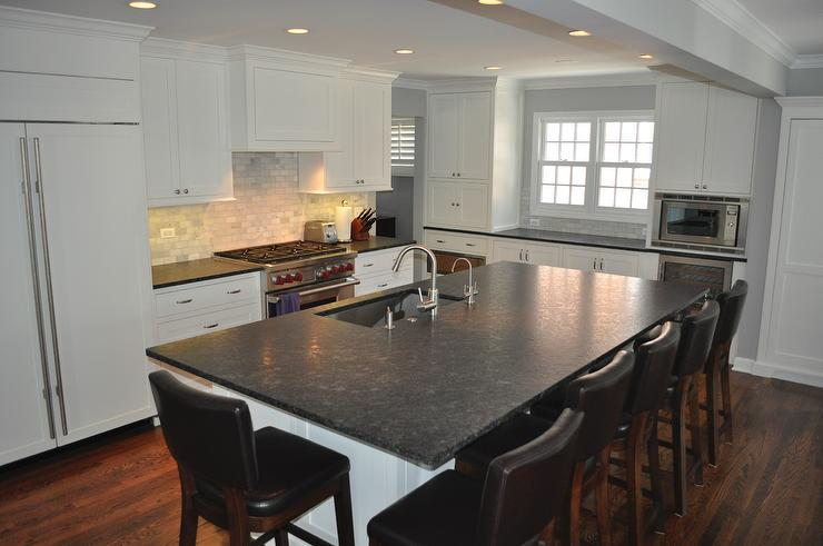 Black Slate Countertops Traditional Kitchen Blank