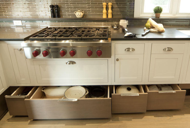 Drawers Under Cooktop Transitional Kitchen Smith