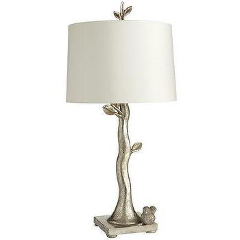 Lighting - Bird & Branch Lamp I Pier1.com - silver branch table lamp, silver bird and branch table lamp, metallic silver bird and branch table lamp,