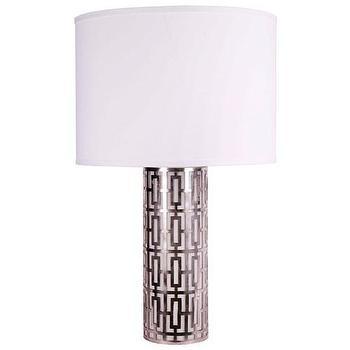 Jamie Young Cypress Silver Table Lamp I Zinc Door