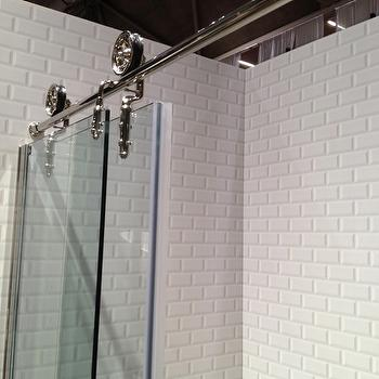 Beveled Subway Tiles, Contemporary, bathroom, Meredith Heron Design