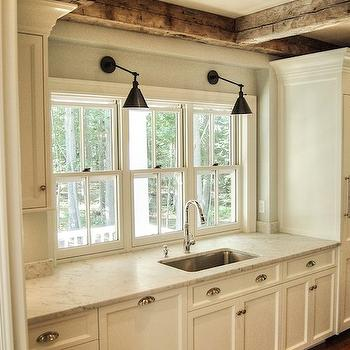 Ash gray kitchen cabinets transitional kitchen for Ash wood kitchen cabinets