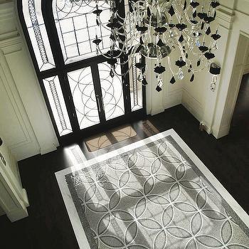 Mosaic Tile Rug, Contemporary, entrance/foyer, Terra Verre