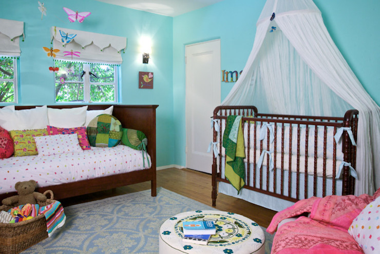 Crib canopy eclectic nursery annette tatum for Canopy over crib