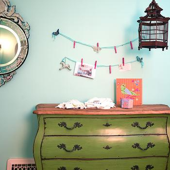 Green Bombay Chest, Eclectic, nursery, Annette Tatum