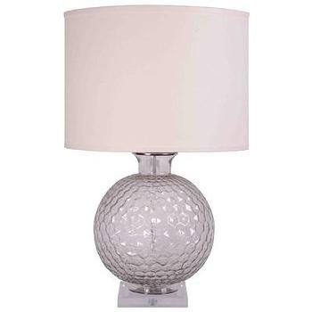 Lighting - Jamie Young Lighting Table Lamp Base Clark Clear I Layla Grayce - textured glass table lamp, transparent clear glass table lamp, contemporary glass table lamp,