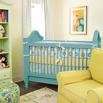Yellow and Blue Nursery, Transitional, nursery, Annette Tatum