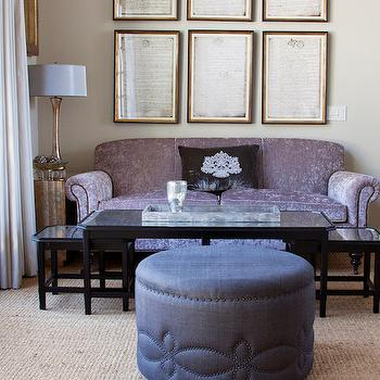 Purple Sofa, Transitional, living room, Annette Tatum