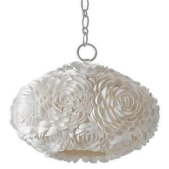 Lighting - Regina Andrew Lighting Mosaic Oval Pendant I Layla Grayce - seashell oval pendant, oval shaped seashell pendant, white oval shaped seashell pendant,