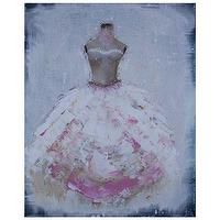 Art/Wall Decor - Rose Pink and White Acrylic on Canvas Art I Layla Grayce - pink blue and white gown art, pink blue and white dress art, pink blue and white ball gown art,