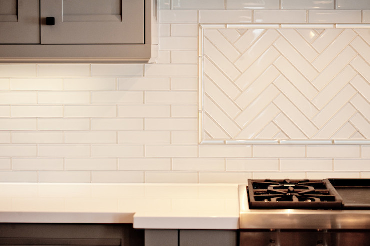herringbone backsplash contemporary kitchen benjamin