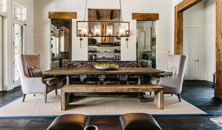 Dining Bench Transitional Dining Room Van Wicklen Design