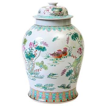 Decor/Accessories - Bungalow 5 Maxime Temple Jar I Layla Grayce - hand painted ginger jar, hand painted temple jar, asian ginger jar,