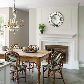 Revere Pewter, Transitional, dining room, Benjamin Moore Revere Pewter, House Beautiful