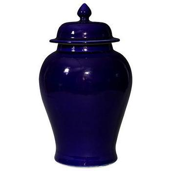 Decor/Accessories - Bungalow 5 Lapis Temple Jar I Layla Grayce - dark blue ginger jar, cobalt blue ginger jar, dark blue temple jar, dark blue chinoiserie jar,