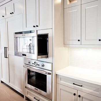 Pull Out Microwave, Contemporary, kitchen, Benjamin Moore Museum Piece, Madison Taylor Design