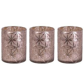 Decor/Accessories - Jamie Young Decor Snowflake Hurricanes Set of 3 I Layla Grayce - mercury glass hurricanes, etched mercury glass hurricane, etched mercury glass candle holder,