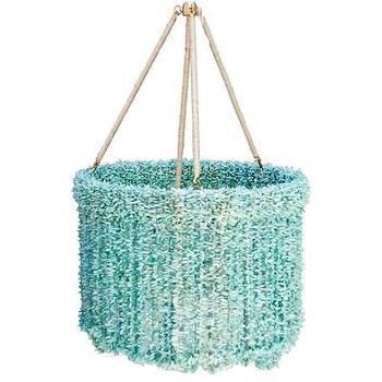 Lighting - Ro Sham Beaux Lily Blue Quartz Chandelier I Layla Grayce - blue beaded chandelier, blue quartz chandelier, blue beaded quartz chandelier,