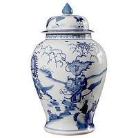 Decor/Accessories - Bungalow 5 Legend Temple Jar I Layla Grayce - blue and white ginger jar, blue and white temple jar, asian ginger jar,