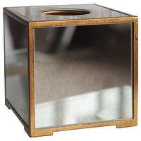 Decor/Accessories - Bungalow 5 Marie Tissue Box Holder I Layla Grayce - mirrored tissue box holder, gold mirrored tissue box holder, mirror paneled tissue box holder,
