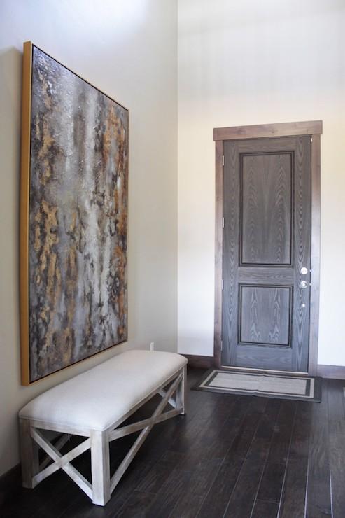 X Bench Contemporary Entrance Foyer Alice Lane Home
