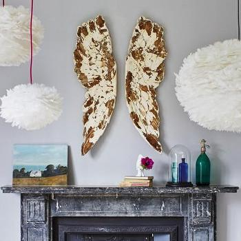 Art/Wall Decor - Angel Wing Wall Decoration I Layla Grayce - angel wing wall decor, vintage style angel wing wall decor, distressed angel wing wall sculpture,