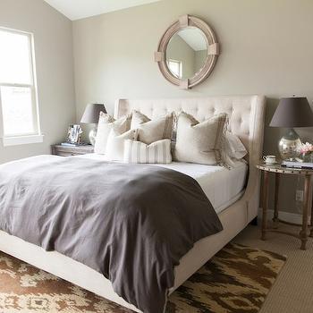Brown And Cream Bedroom Contemporary Bedroom