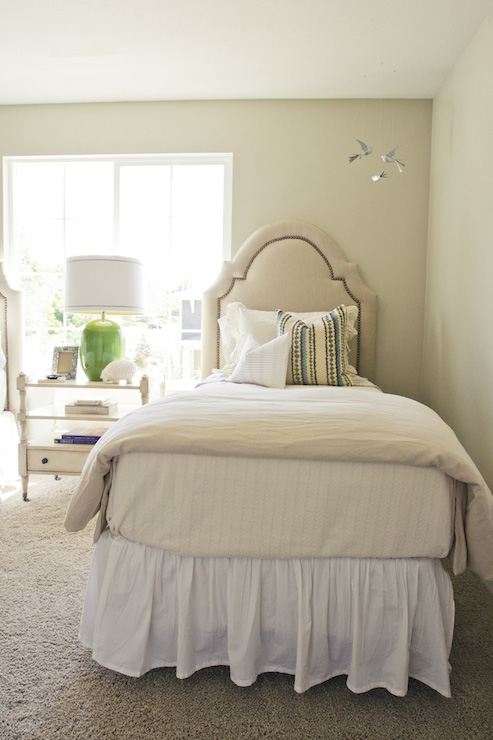 Shared girls room traditional bedroom sherwin for Sherwin williams cotton white