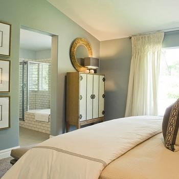 Arteriors Chelsey Limed Oak Natural Bar, Contemporary, bedroom, Sherwin Williams Unusual Gray, Alice Lane Home