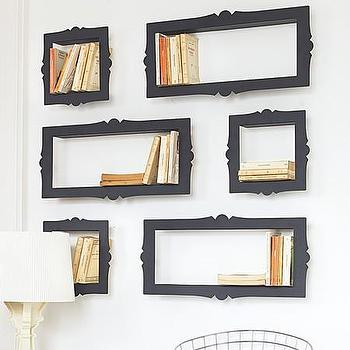 Art/Wall Decor - Baroque CD, DVD or Bookshelves I Graham and Green - black baroque shelves, black baroque cd shelves, black baroque dvd shelves, avant-garde bookshelf, avant-garde shelves,